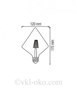 Лампа Filament led HOROZ RUSTIC PYRAMID 6W  E27 2200К