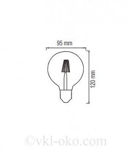 Лампа Filament RUSTIC TWIST 4W E27