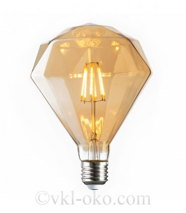 Лампа Filament RUSTIC DIAMOND 6W E27