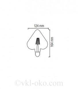 Лампа Filament RUSTIC HEART 6W E27