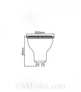 Светодиодная  лампа VISION-6 6W GU10 диммируемая