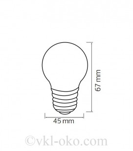 Светодиодная лампа шарик RAINBOW 1W E27 синяя