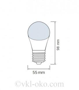 Светодиодная лампа SPECTRA 3W E27 синяя