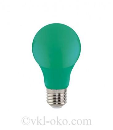 Светодиодная лампа SPECTRA 3W E27 зелёная