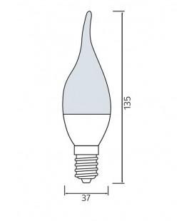 Светодиодная лампа свеча на ветру CRAFT-10 10W E14