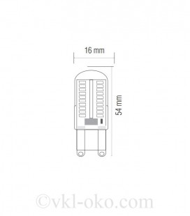 Светодиодная лампа MEGA-5 5W G9