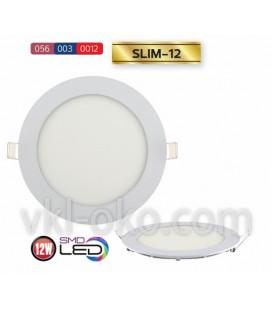 Врезной светодиодный LED светильник Slim 12W (круглый)