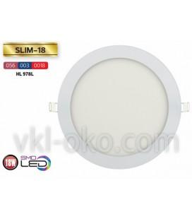 Врезной светодиодный LED светильник Slim 18W (круглый)