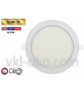 """Встраиваемый светодиодный Led светильник Horoz """"Slim - 18"""" 18W"""