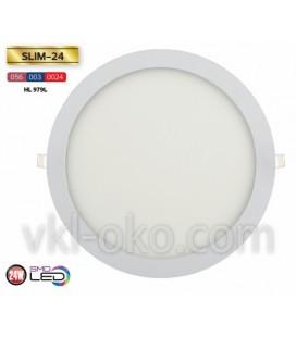 Врезной светодиодный LED светильник Slim 24W (круглый)