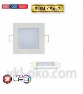 Встраиваемый светодиодный Led светильник Horoz Slim Sq-3 3W (квадрат)