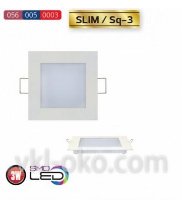"""Встраиваемый светодиодный квадратный Led светильник Horoz """"Slim Sq - 3"""" 3W"""