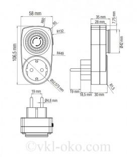 Механический таймер TIMER-1 (день)