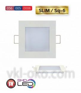 Встраиваемый светодиодный Led светильник Horoz Slim Sq-6 6W (квадрат)