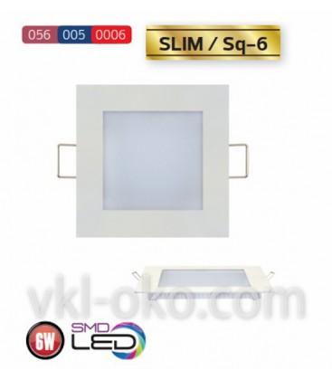 """Встраиваемый светодиодный квадратный Led светильник Horoz """"Slim Sq - 6"""" 6W"""