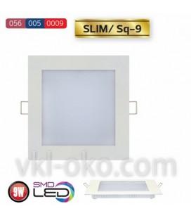 Встраиваемый светодиодный Led светильник Horoz Slim Sq-9 9W (квадрат)