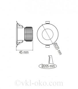 Светильник точечный врезной VANESSA-30 3 W