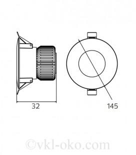 Светильник точечный врезной ALEXA-20 20W