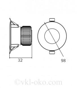 Светильник точечный врезной ALEXA-8 8W