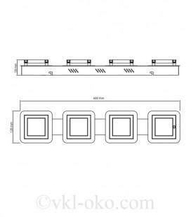 Светильник накладной потолочный LİKYA-5 20W