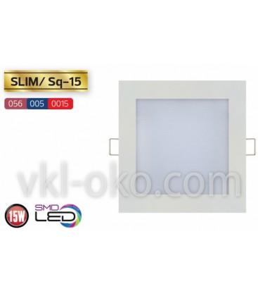 """Встраиваемый светодиодный квадратный Led светильник Horoz """"Slim Sq - 15"""" 15W"""