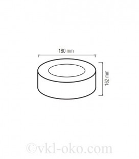 Накладной светодиодный светильник SANDRA-15/XL 15W