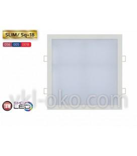 """Встраиваемый светодиодный квадратный Led светильник Horoz """"Slim Sq - 18"""" 18W"""