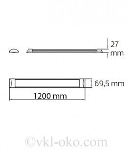 Линейный светодиодный светильник балка TETRA-48 48W