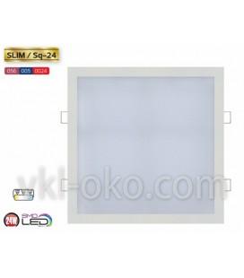 Встраиваемый светодиодный Led светильник Horoz Slim Sq-24 24W (квадрат)