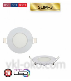 Врезной светодиодный LED светильник Slim-3 3W (круглый)
