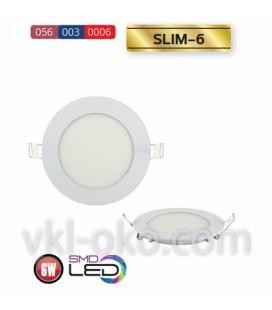 Врезной светодиодный LED светильник Slim-6 6W (круглый)