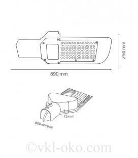 Уличный светодиодный светильник ORLANDO-150 150W
