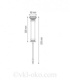 Светильник садово-парковый на солнечной батарее LOTUS 0.06W