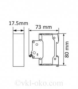 Автоматический выключатель SAFE 40А 1P C