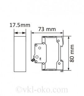 Автоматический выключатель SAFE 63А 1P C