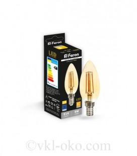 Светодиодная лампа Filament LB-158 6W E14 золото