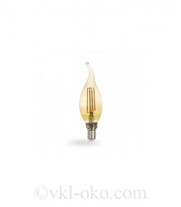 Светодиодная лампа Filament LB-59 4W E14 золото