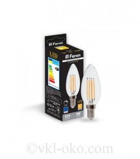 Светодиодная лампа Filament LB-68 4W E14 диммируемая