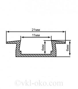 Профиль врезной для светодиодной ленты Feron CAB251
