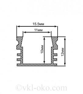 Профиль накладной для светодиодной ленты Feron CAB261