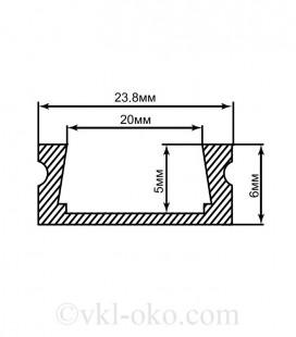 Профиль накладной для светодиодной ленты Feron CAB263