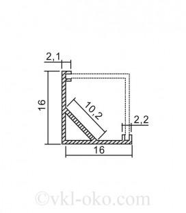 Профиль накладной для светодиодной ленты Feron CAB281