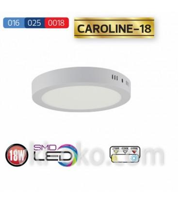"""Накладной светодиодный Led светильник Horoz """"CAROLINE - 18"""" 18W"""