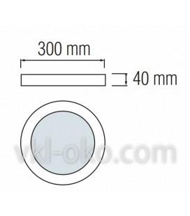 """Накладной светодиодный Led светильник Horoz """"CAROLINE - 28"""" 28W"""