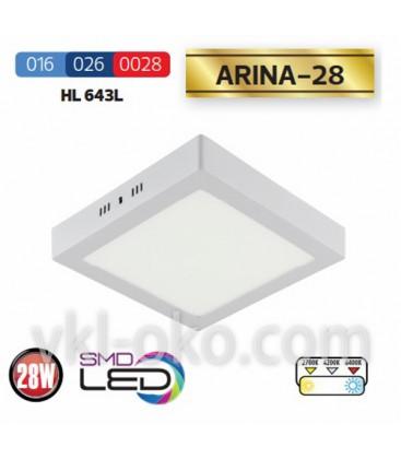 """Накладной светодиодный Led светильник Horoz """"ARINA - 28"""" 28W"""