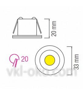 Светильник точечный LED Horoz MONICA HL 665L 1W