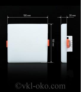 Светильник светодиодный Biom UNI-S12W-5 12W квадратный