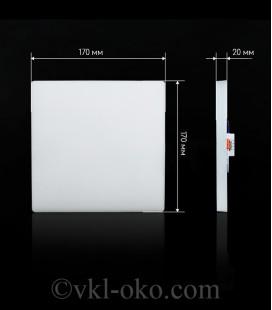 Светильник светодиодный Biom UNI-S24W-5 24W квадратный