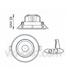 Светильник точечный LED Horoz SONIA 5 5W