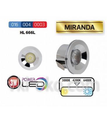 Светильник точечный LED Horoz MIRANDA HL 666L 3W